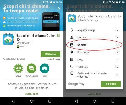 Scopri chi ti chiama Caller ID android app