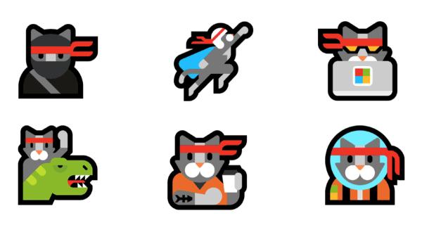 ninjacat stickers pack