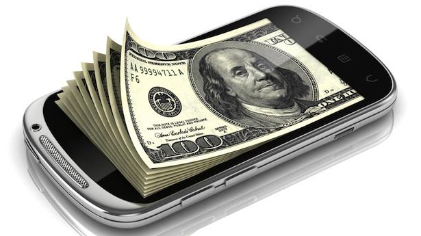 smartphone pagamento soldi
