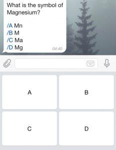 telegram keyboard